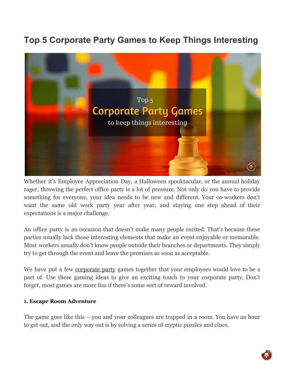 Office Party Game Ideas from image4.slideserve.com