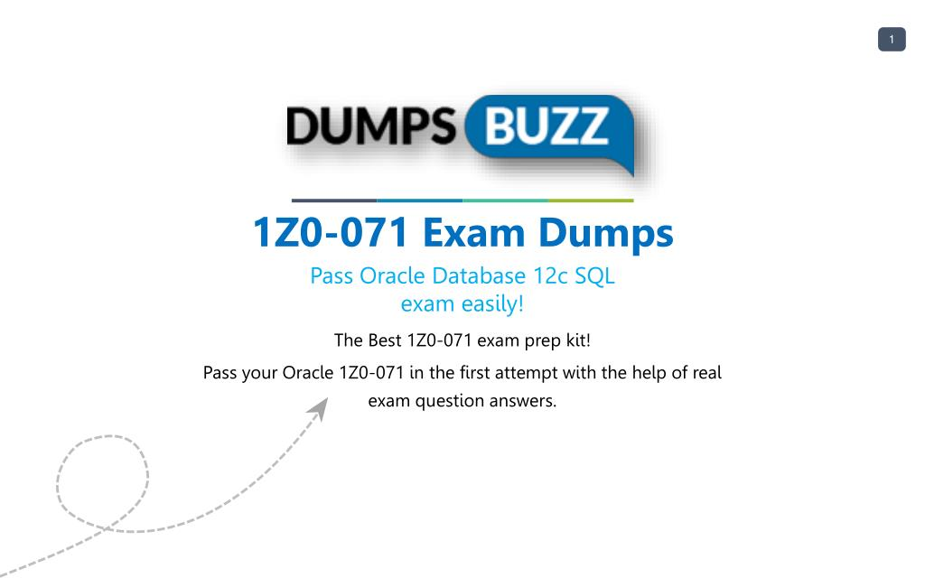 Ppt Oracle 1z0 071 Test Vce Questions For Beginners And Everyone
