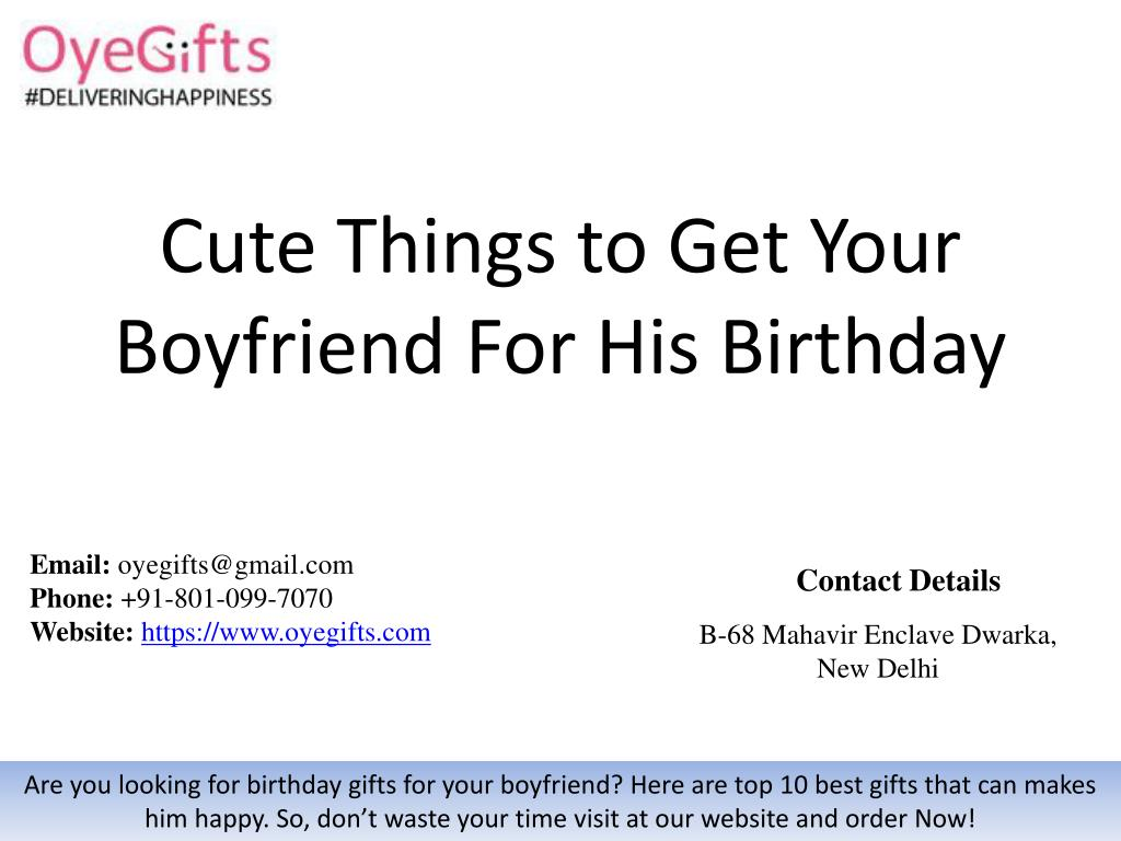 what should you get your boyfriend for his birthday