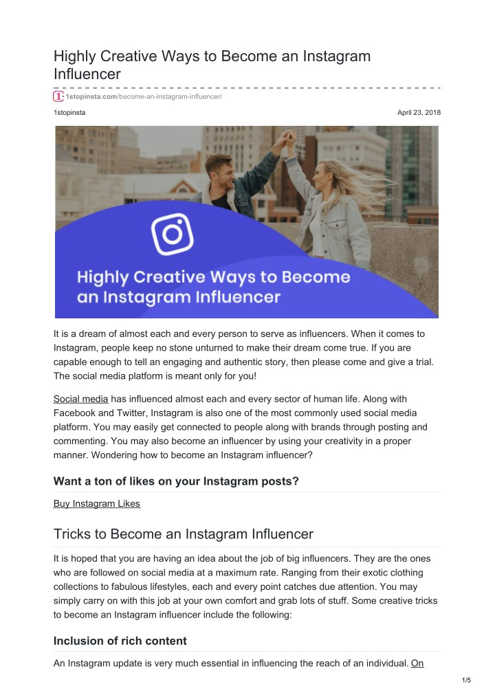 highly creative ways to become an instagram n.