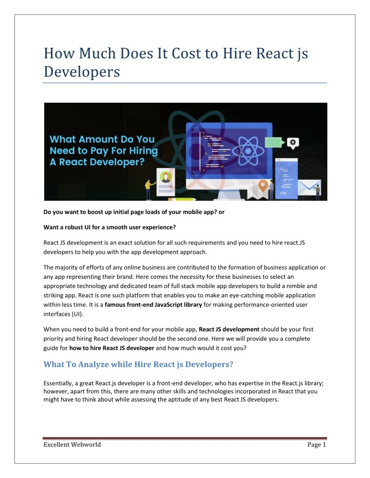 how much does it cost to hire react js developers n.