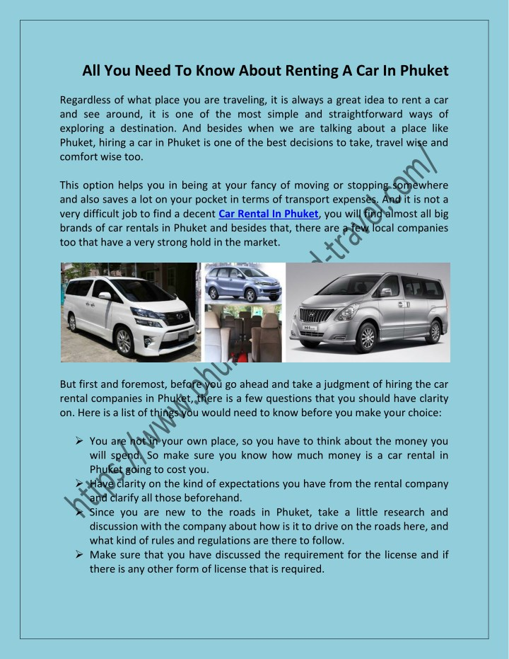 all you need to know about renting a car in phuket n.