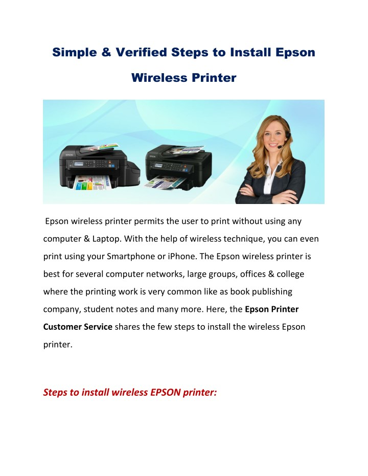 simple verified steps to install epson n.