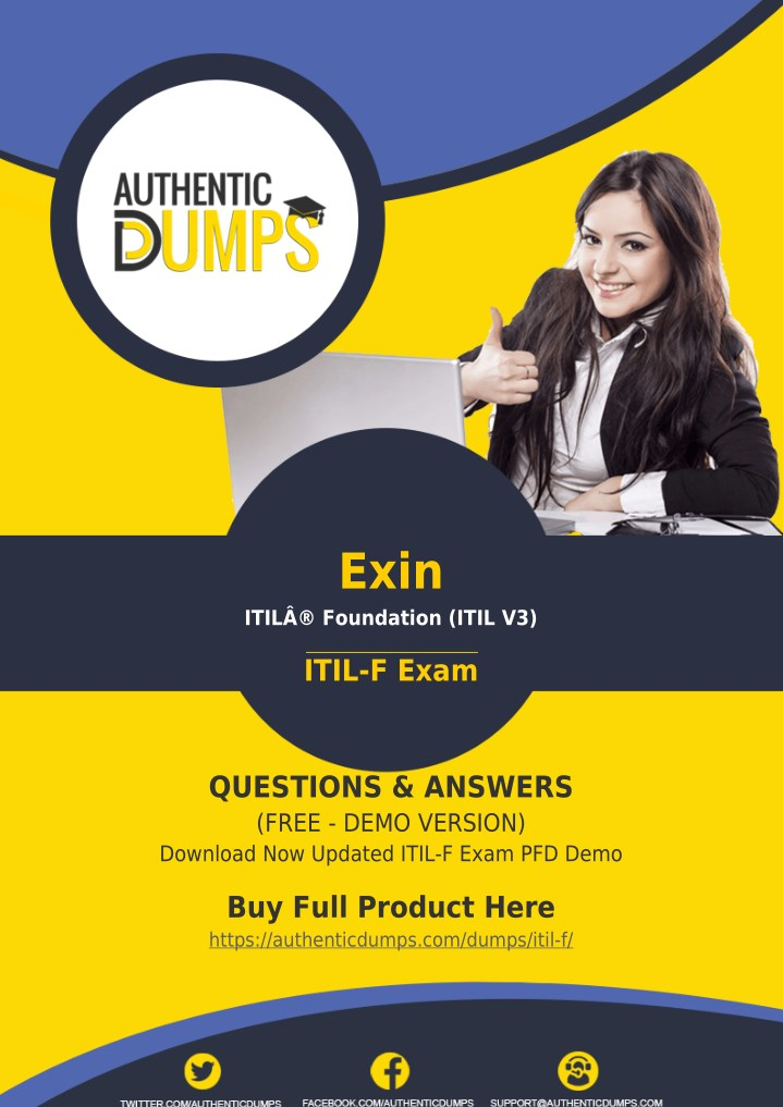 Ppt Itil F Exam Dumps Download Updated Exin Itil F Exam