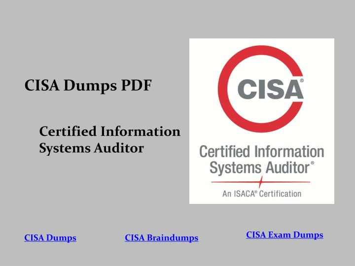 PPT - Up To Date CISA PDF Questions Answers Valid CISA Dumps