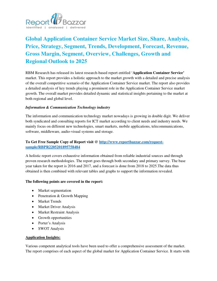 PPT - Application Container Service Market And What Makes it