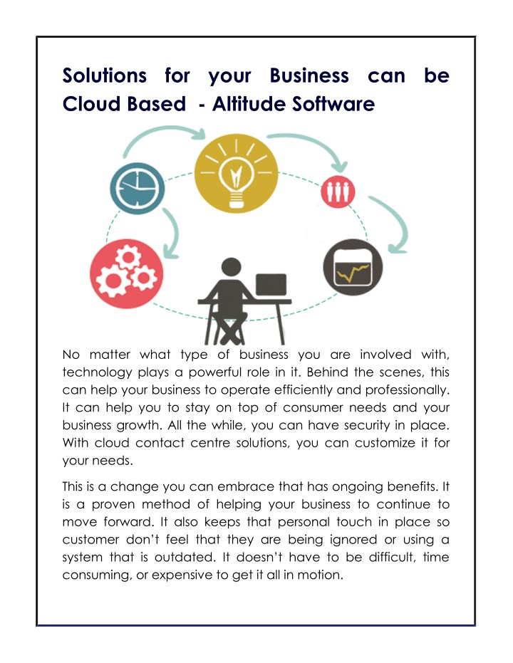 solutions for your business can be cloud based n.