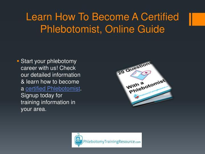 Ppt Phlebotomy Training School Online Courses Guide Program