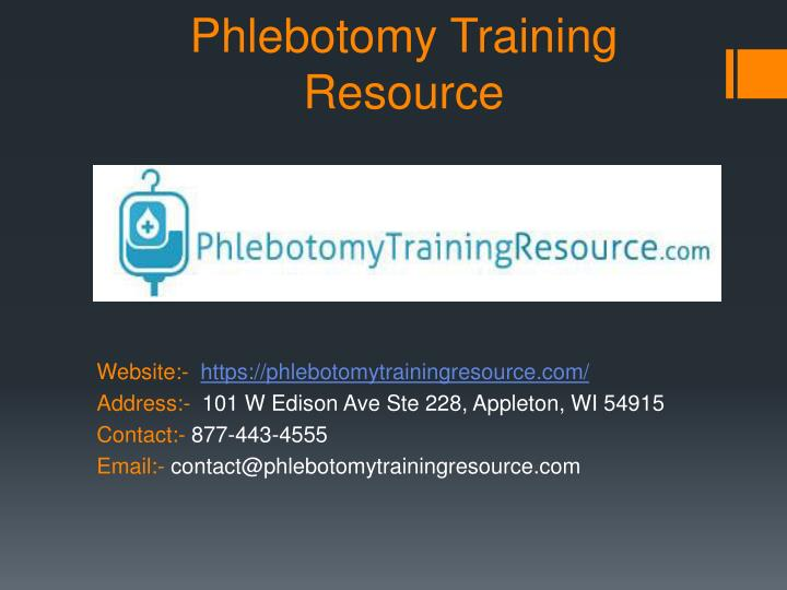 PPT - Phlebotomy Training School, Online Courses Guide & Program ...