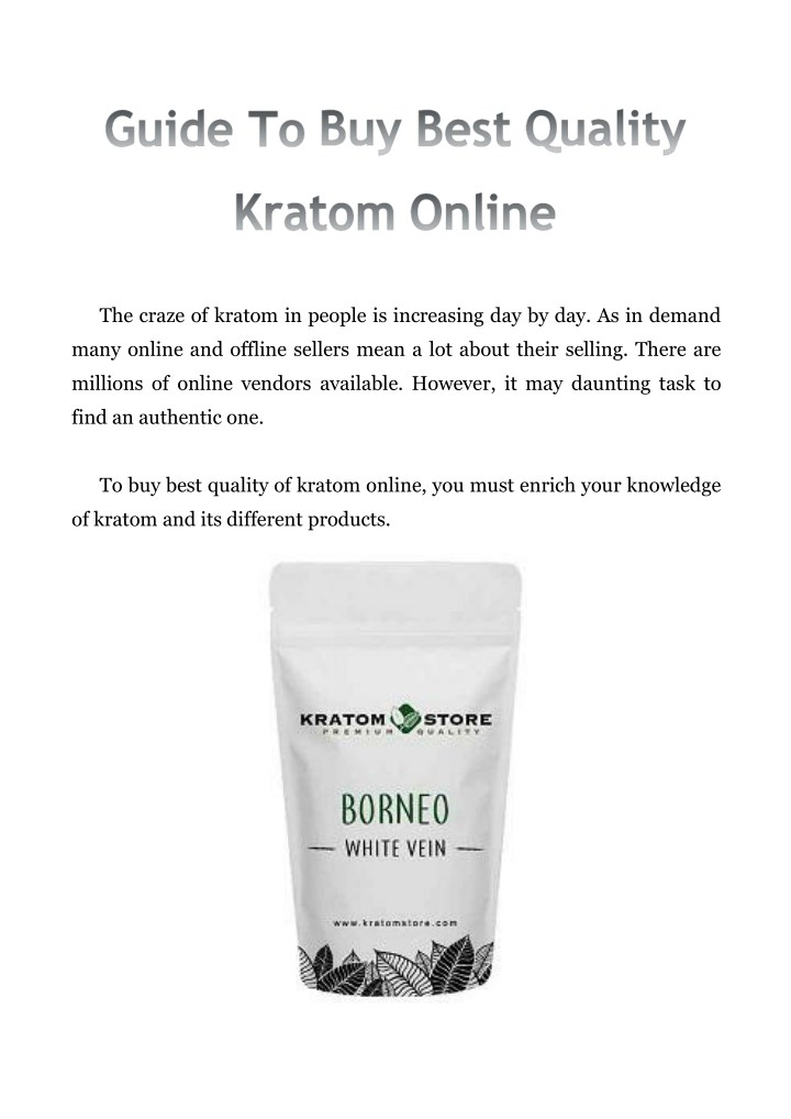 the craze of kratom in people is increasing n.