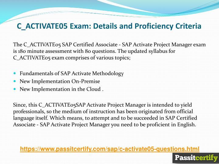 Ppt New Exam Pass Cactivate05 Sap Associate Exam A Guaranteed