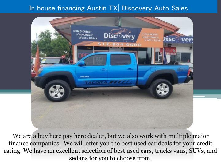 In House Financing Car Dealers >> Ppt In House Financing Austin Tx Powerpoint Presentation