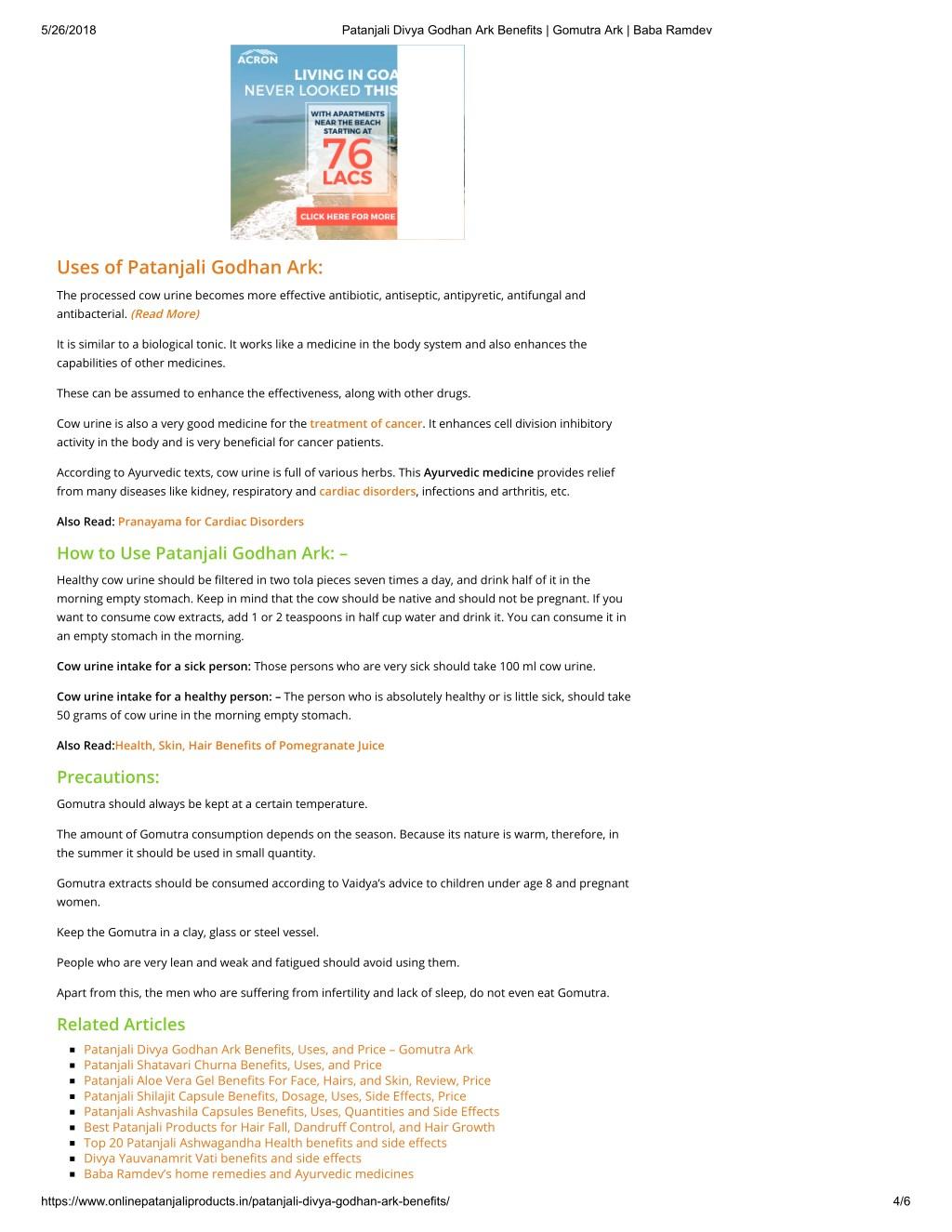 PPT - Patanjali Divya Godhan Ark Benefits PowerPoint Presentation