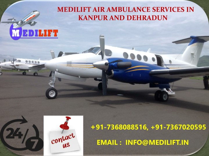medilift air ambulance services in kanpur n.