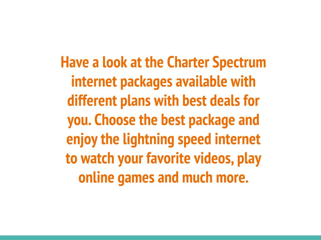 PPT - Charter Spectrum Internet Plans ...