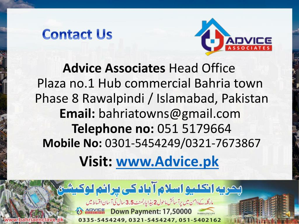 PPT - House for sale In Bahria Town Islamabad -Advice pk