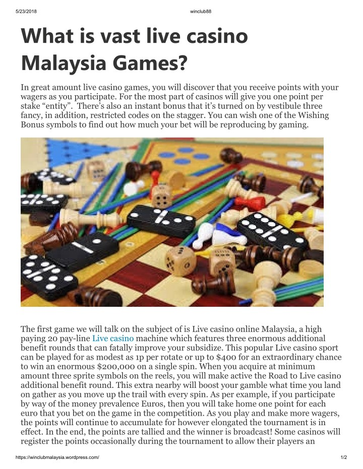 5 23 2018 what is vast live casino malaysia games n.