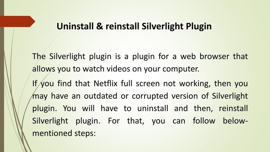 PPT - Netflix Full Screen Not Working PowerPoint