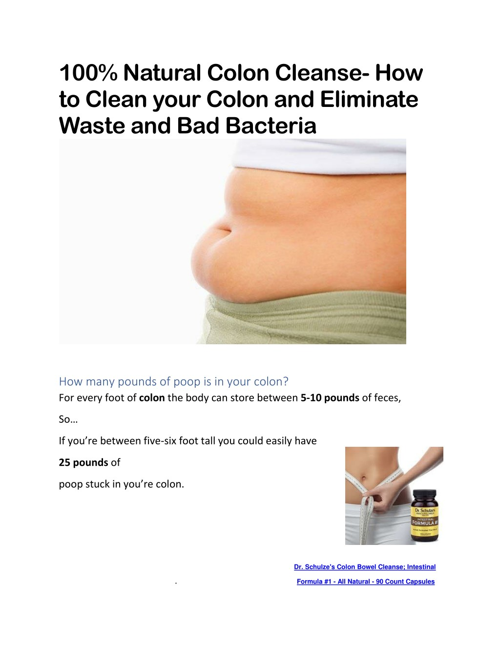 Ppt Colon Cleanse Powerpoint Presentation Free Download Id 7882410