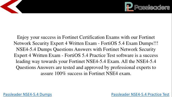 PPT - Passleader NSE4-5.4 Dumps PowerPoint Presentation - ID:7882534