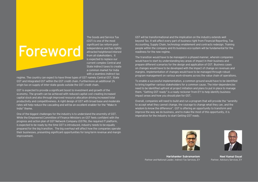 PPT - GST Implementation in India for organization | EY