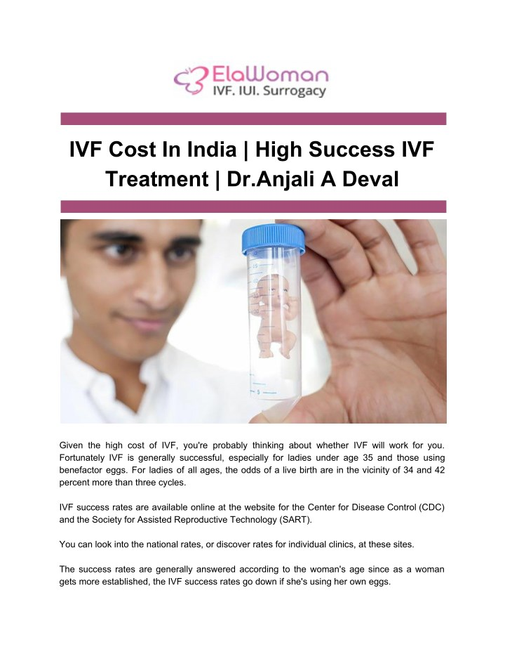 PPT - IVF Cost In India _ High Success IVF Treatment _ Dr