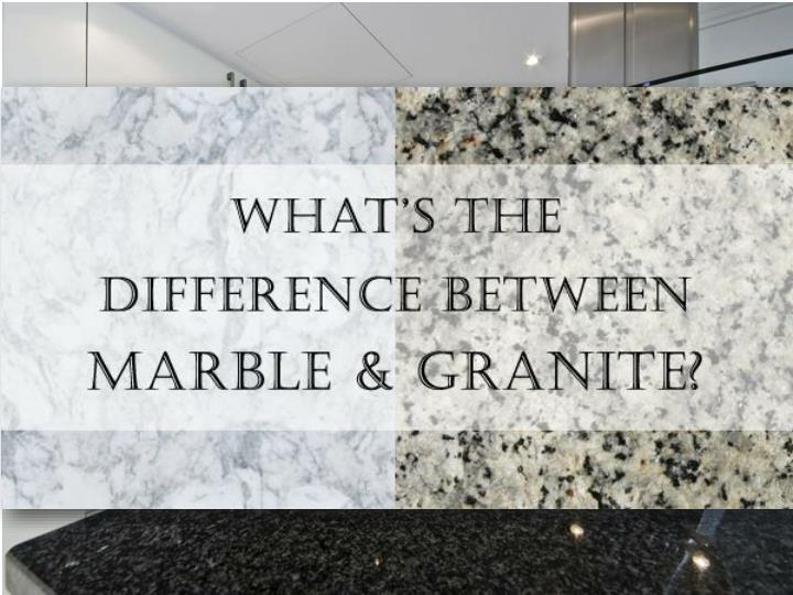 Key Difference Between Granite Marble