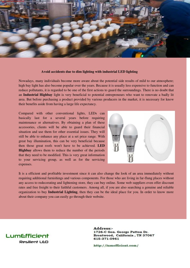 avoid accidents due to dim lighting with n.