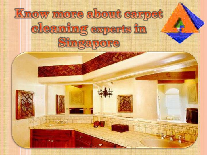 know more about carpet cleaning experts n.