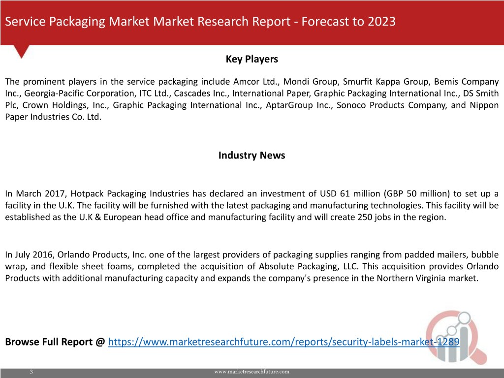 PPT - Service Packaging Market Research Report - Forecast to 2023