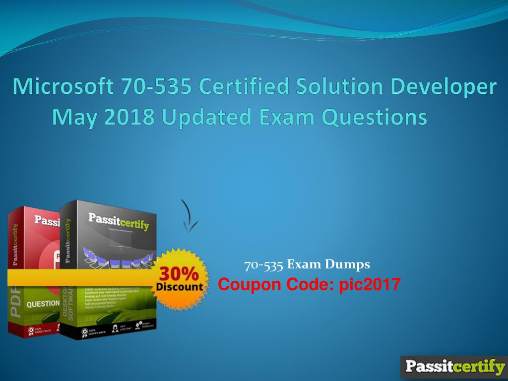 Ppt Microsoft 70 535 Certified Solution Developer May 2018 Updated
