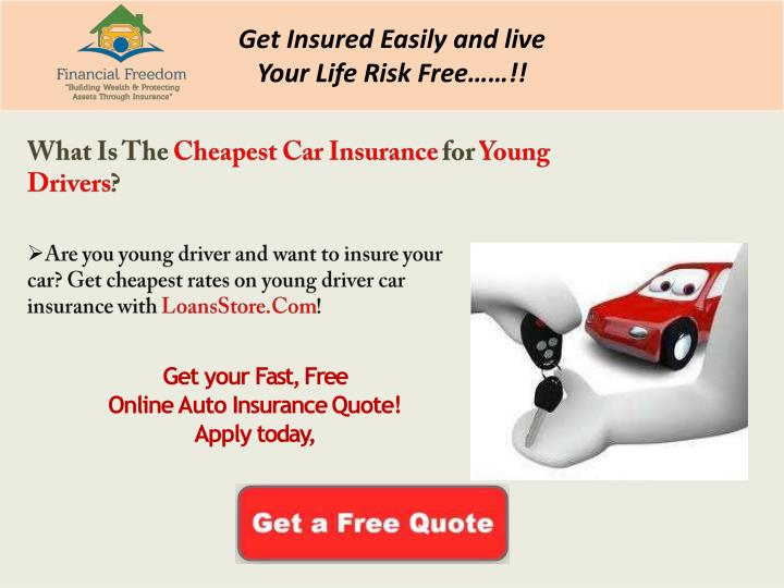 Ppt What Is The Cheapest Car Insurance For Young Drivers