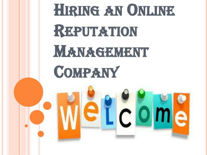 advantages of hiring an online reputation management company n.