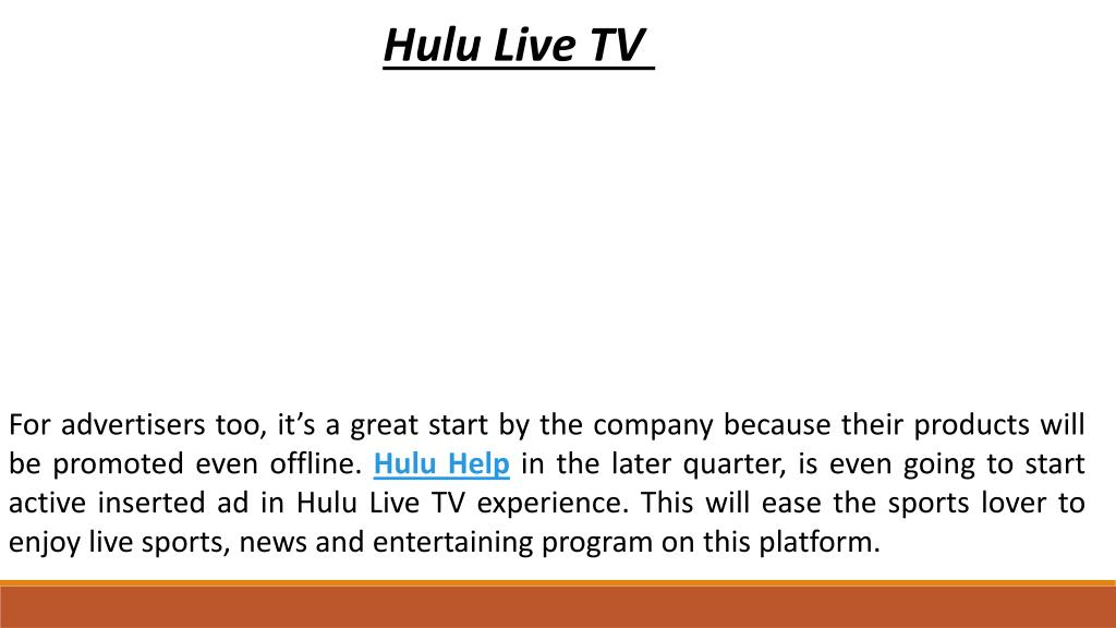 PPT - Hulu finished 20 million user base, will start to offer
