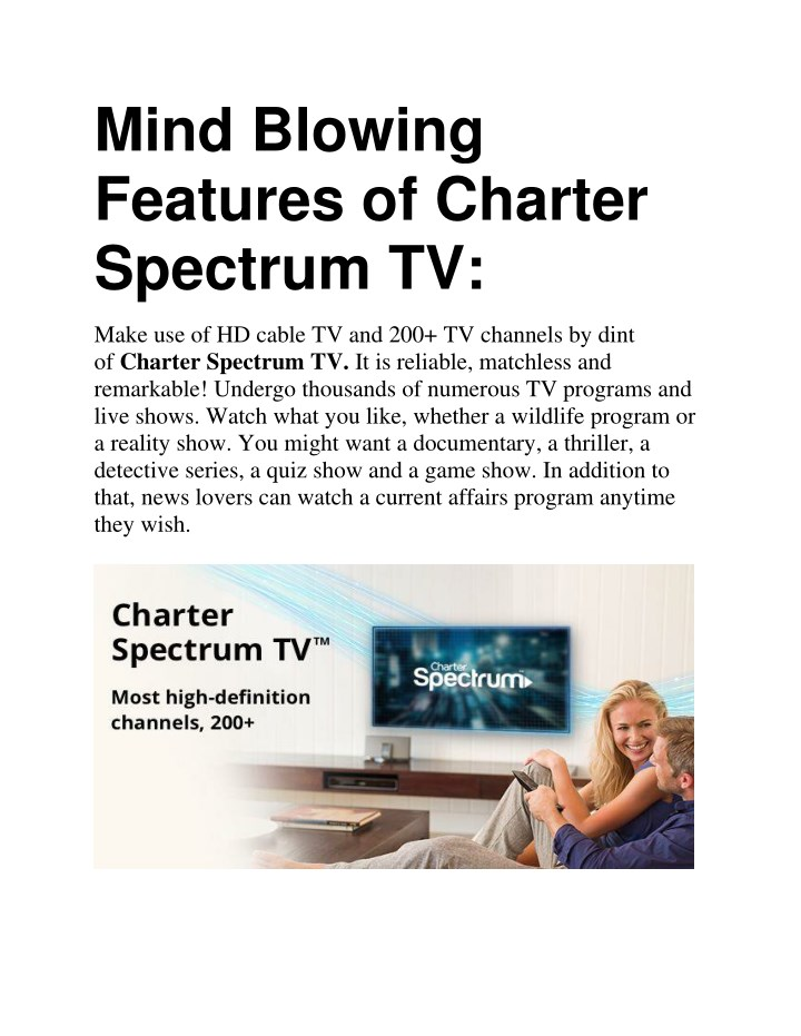 PPT - Mind Blowing Features of Charter Spectrum TV