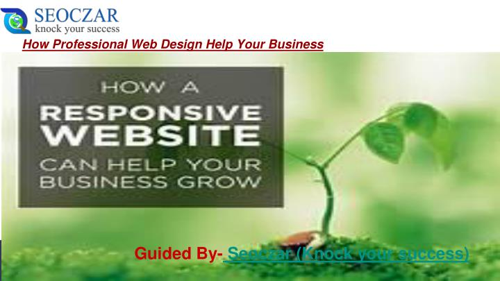 how professional web design help your business n.