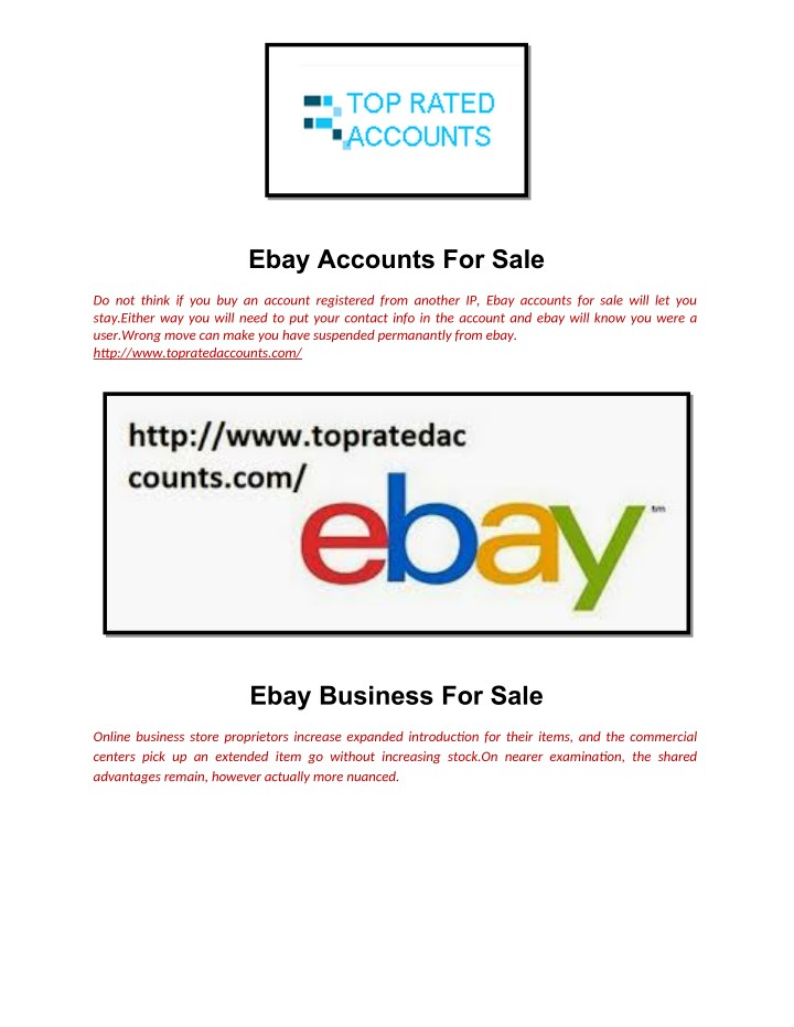 Ppt Ebay Accounts For Sale Powerpoint Presentation Free Download Id 7889025
