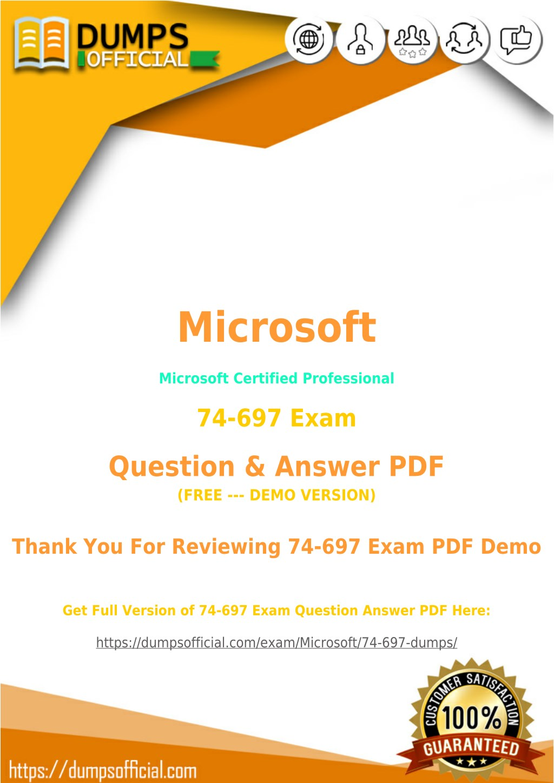 Ppt 74 697 Pdf Updated Microsoft Specialist Exam Pdf Powerpoint