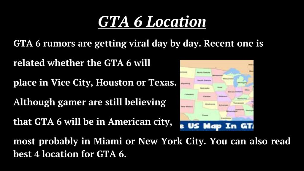 Gta 6 Map Of America.Ppt Gta 6 Release Date Powerpoint Presentation Id 7889805