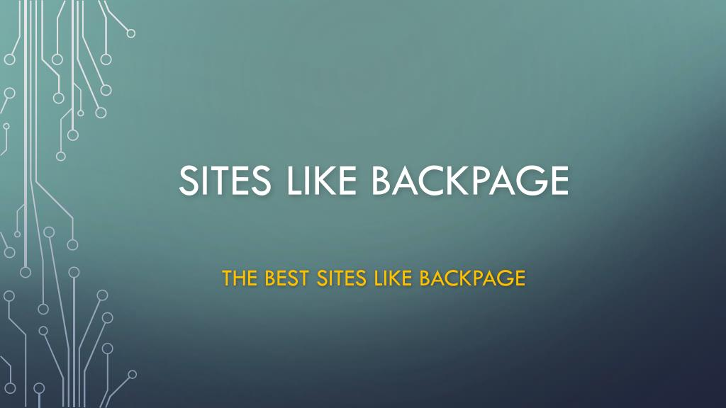 what other sites are like backpage