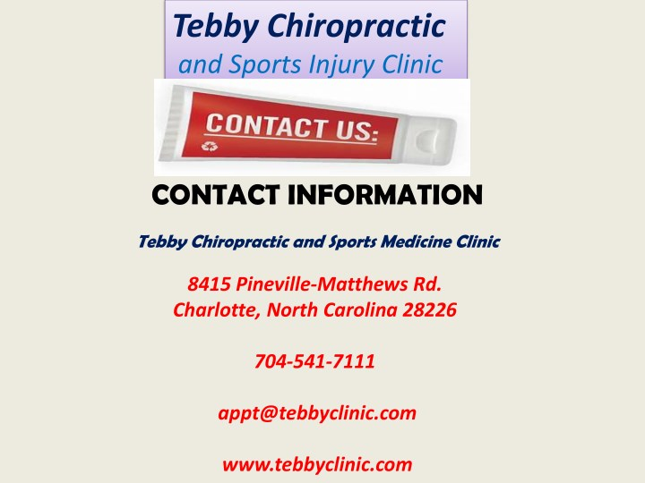 ppt back pain relief center chiropractic care in charlotte nc