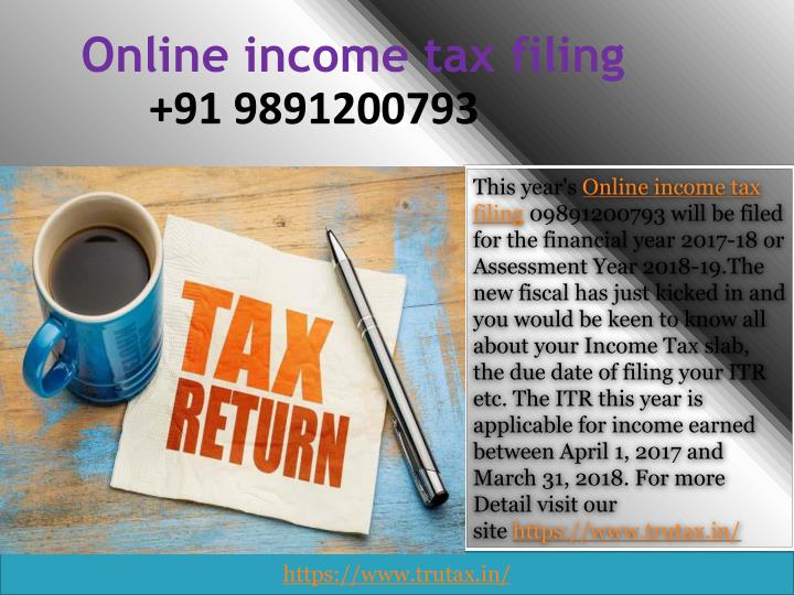 online income tax filing n.
