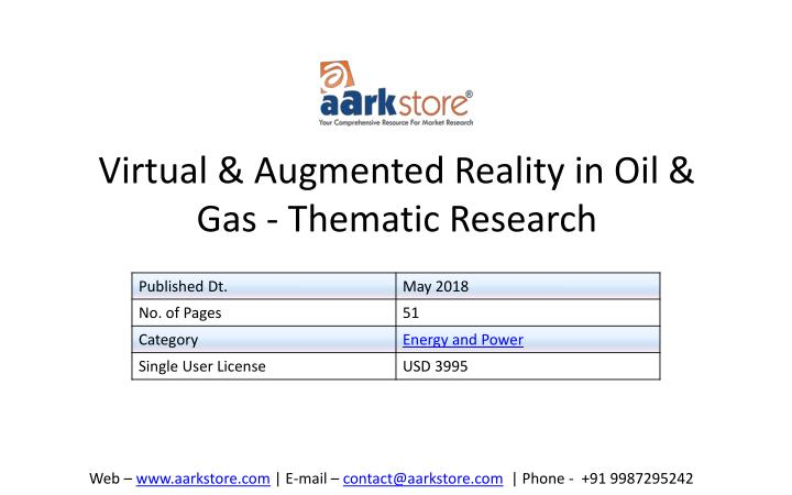 virtual augmented reality in oil gas thematic research n.