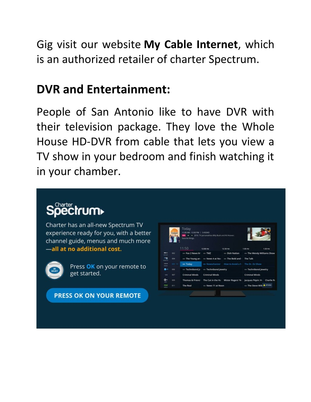 PPT - Unusual Service of Charter Spectrum Call PowerPoint