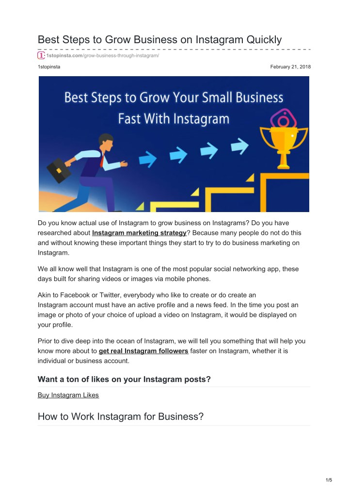 best steps to grow business on instagram quickly n.