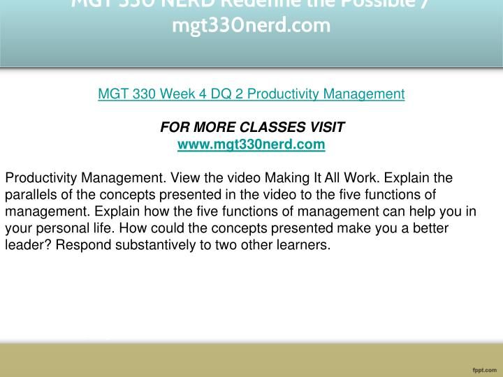 functions of management mgt330 Functions of management paper tim seddon mgt/330 management: theory, practice and application october 11, 2010 michael ventrone leading planning the first phase of management is in planning and reviewing and improving of the strategies each role adds clarification to the way a company performs organizing which clearly states why this.