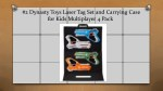 2 dynasty toys laser tag set and carrying case