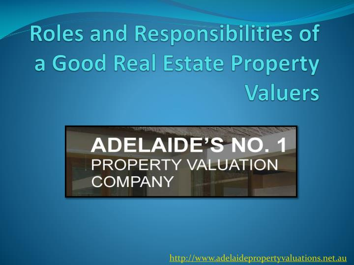 PPT - Roles and Responsibilities of a Good Real Estate