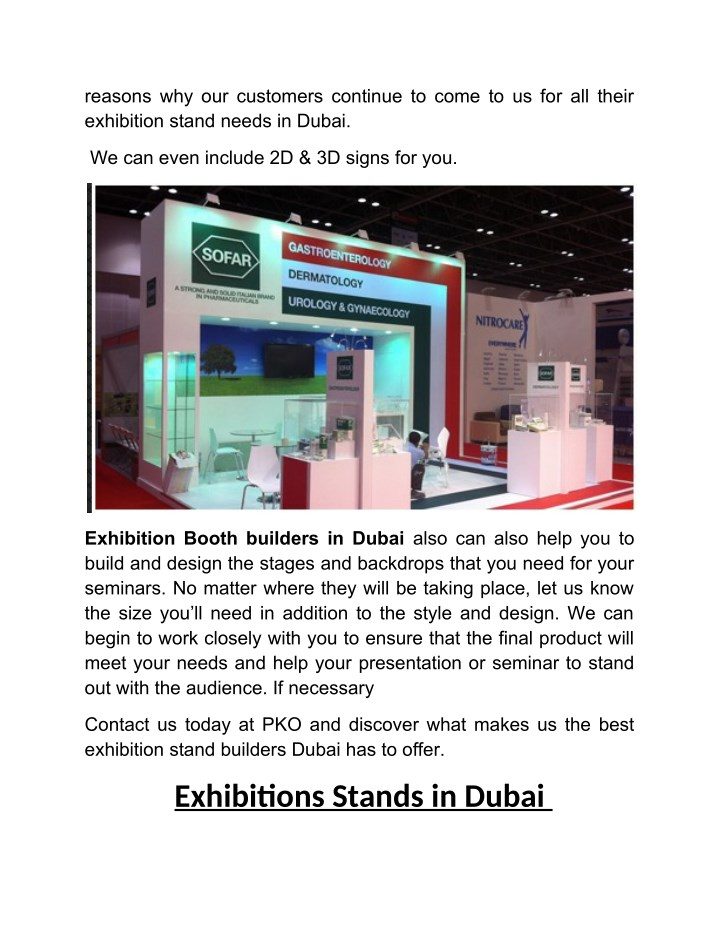 Pko Exhibition Stand Designers And Builders : Ppt pko stand construction in dubai are the most trusted