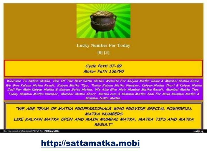 PPT - Best satta matka game trips in india PowerPoint